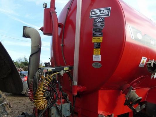 Commercial Hi-Spec 4500 Gallon vacuum tanker