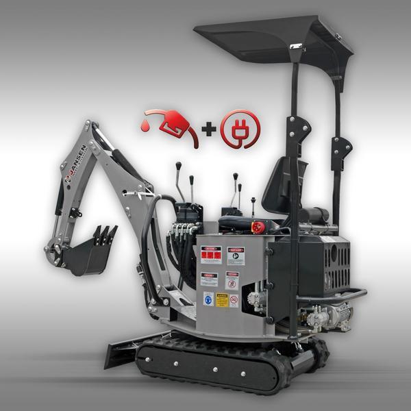 Anbaubagger Schreitbagger ATV 10PS Benzin Minibagger Jansen MB-300 Bagger