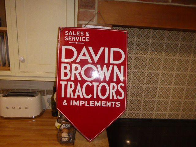 David Brown TRACTOR SIGN